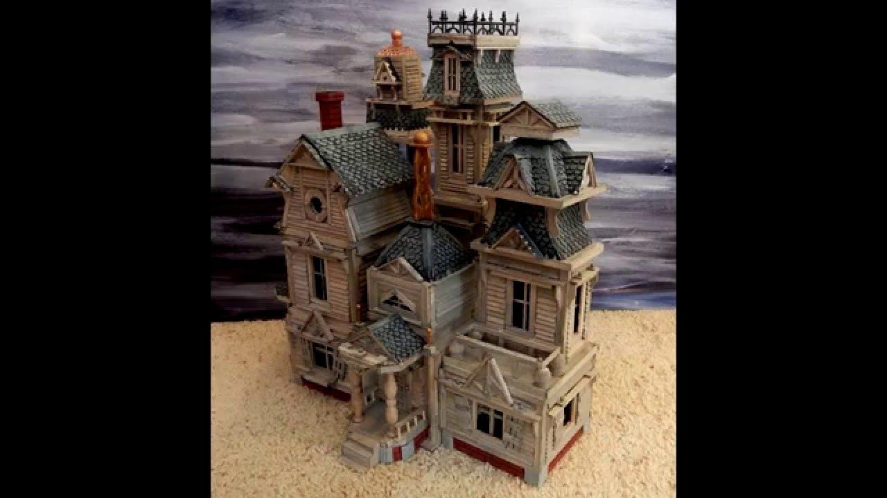 Haunted House Miniature For Halloween Display Youtube