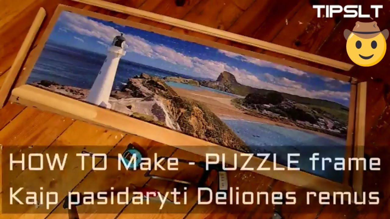 How To Frame A Puzzle | Kaip padaryti puzzlei Remus :) - YouTube