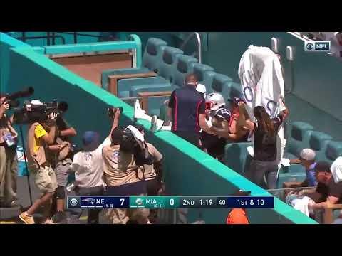 Antonio Brown Touchdown | Patriots vs Dolphins