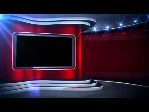 Red Background News Set Virtual Set - YouTube