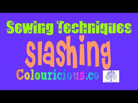Sewing Patterns - Textiles technique - Slashing - Colouricious