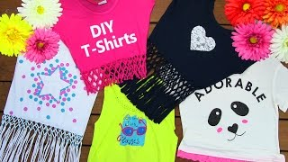 DIY Clothes! DIY 5 T-Shirt Crafts (T-Shirt Cutting Ideas and Projects with 5 Outfits) thumbnail
