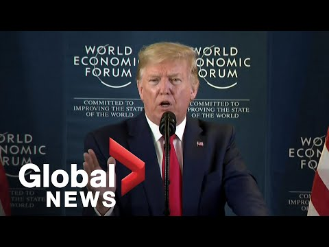 Trump takes question on impeachment, China trade deal at World Economic Forum