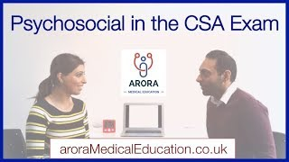 How to tackle PSYCHOSOCIAL in the CSA Exam