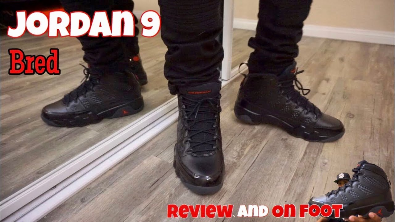 differently 785ef d992b Jordan 9 Bred On Feet