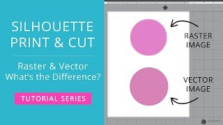 Silhouette Print & Cut Tutorial - Raster & Vector Images (What