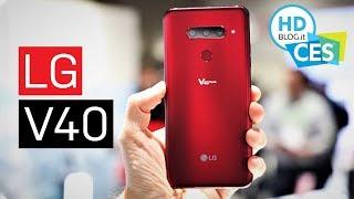 LG V40 ThinQ: 5 fotocamere e audio TOP presto in Italia | CES 2019