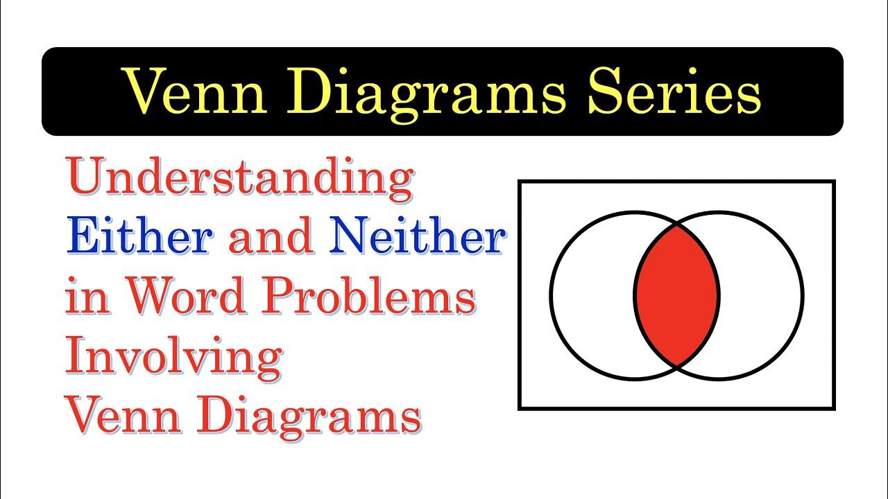 Venn06 Understanding Either And Neither In Venn Diagram