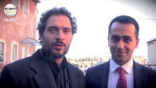 #NotteDellOnestà: Luigi Di Maio con Claudio Santamaria