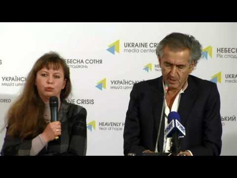 Bernard-Henri Lévy. Ukraine Crisis Media Center, 18th of February 2015