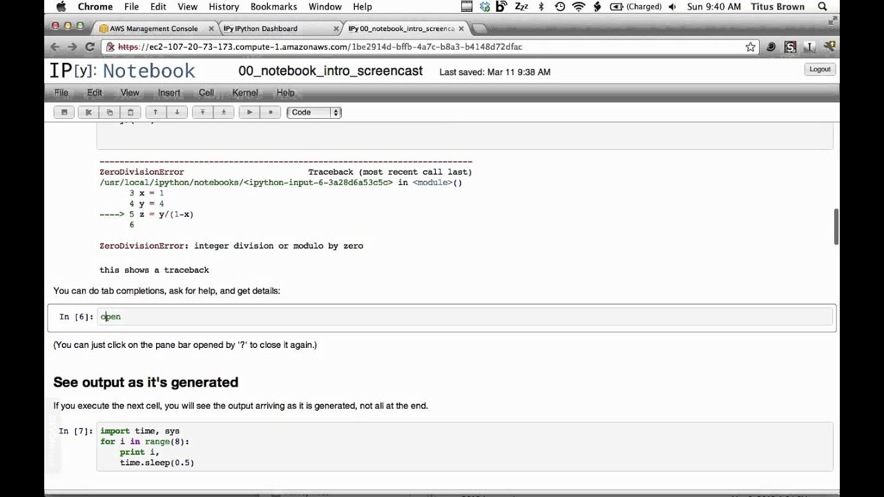 A short demo on how to use IPython Notebook as a research notebook