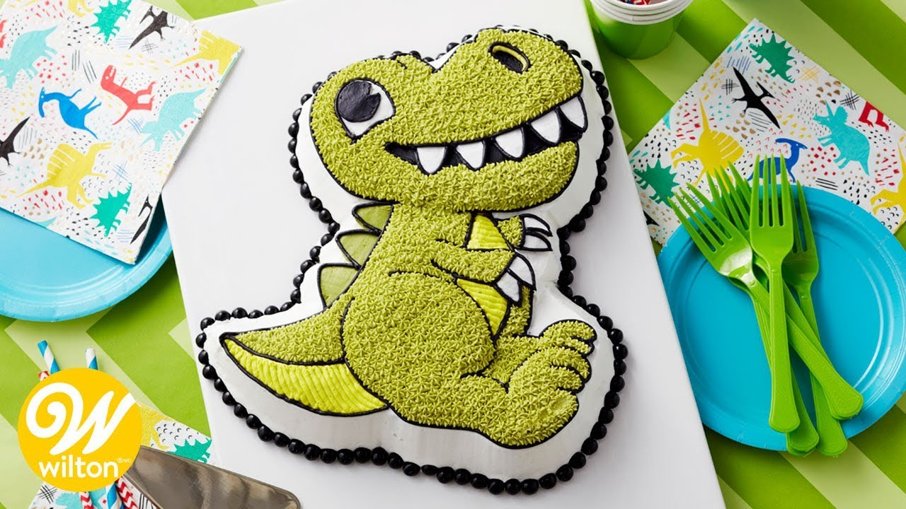dinosaur cake pan how to bake and decorate with a character cake pan 3552