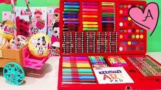 Juego gigante para pintar y dibujos para colorear de unicornio | Muñecas y juguetes con Andre