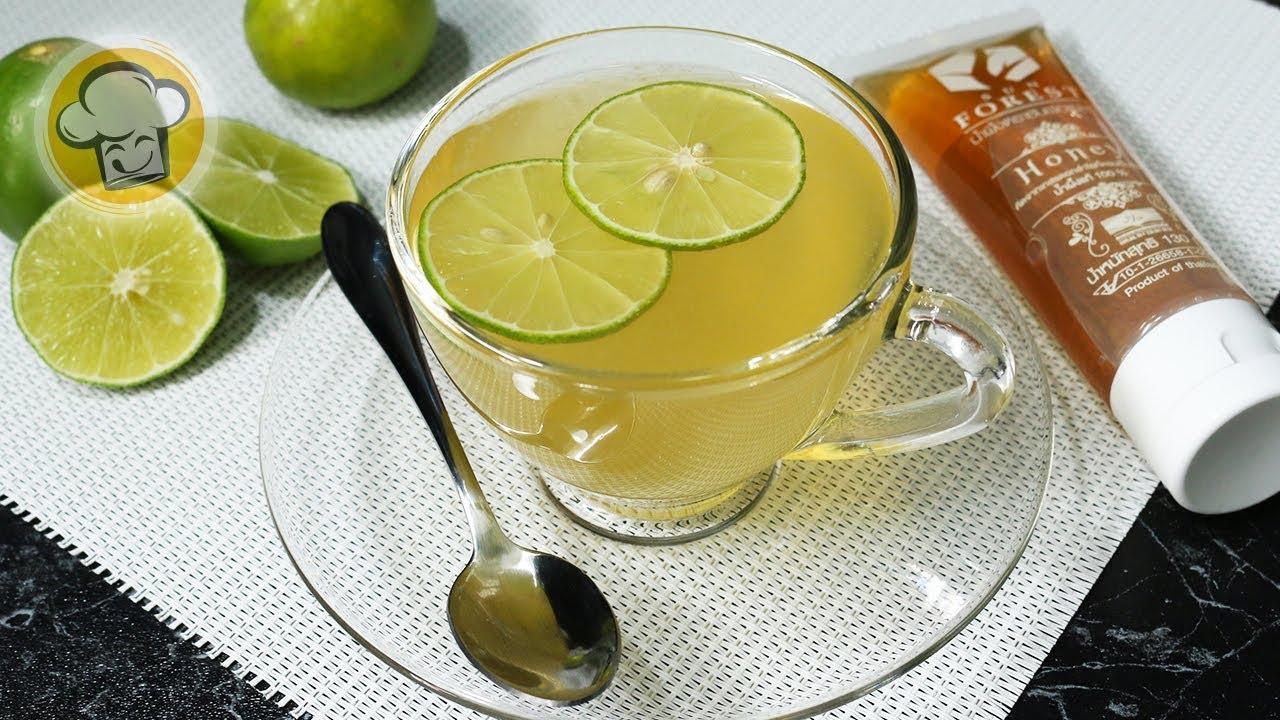 น้ำผึ้งมะนาวอุ่นๆ สูตรแก้ไอ-เจ็บคอ ได้ผลจริง ทำง่ายใน 5 นาที | Honey Lemon Drink | ครัวปรุงอร่อย