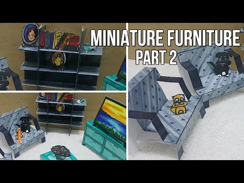20 minutes   DIY   Paper Crafts   Miniature   Fast   Easy   Inexpensive   Super Cool. Part 2
