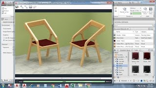 AutoCAD 3D modeling Tutorials - Chair Exercise - AutoCAD 2017