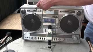Stereo Music Rock n roll Boombox Woofer Showdown Comparison TOTL Conion JVC National Panasonic