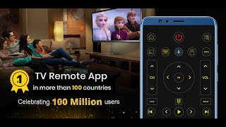 Universal TV Remote Control Application - Support Smart TVs - Available on Google Play & App Store screenshot 1