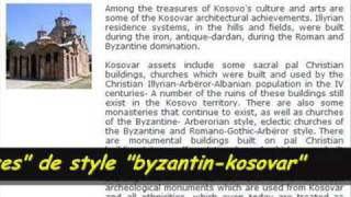 Kosovo. Eglises illyriennes-albanaises. Janvier 2008