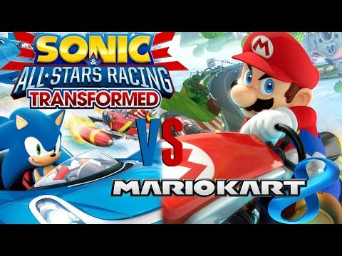Mario Kart 8 Vs Sonic & All Stars Racing Transformed Review