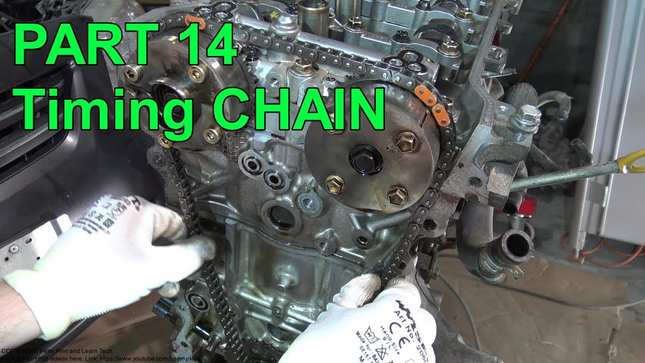 How To Assemble Toyota Corolla Dual Vvt-i Engine Years 2007 To 2018 Part 14 Timing Chain