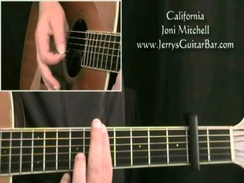 How To Play Joni Mitchell California Intro Only Youtube