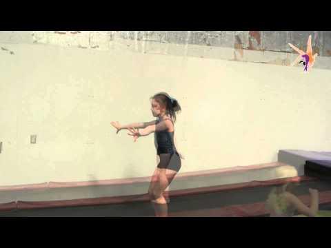 1/2 turn, tuck jump, 1/2 turn --- drill for turning gymnastics jumps