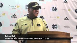 Brian Kelly Talks After Notre Dame Spring Game