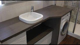 meuble modele emma salle de bain design avec machine a laver atlantic bain