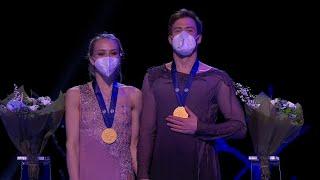 Церемония награждения Танцы на льду Чемпионат мира по фигурному катанию 2021