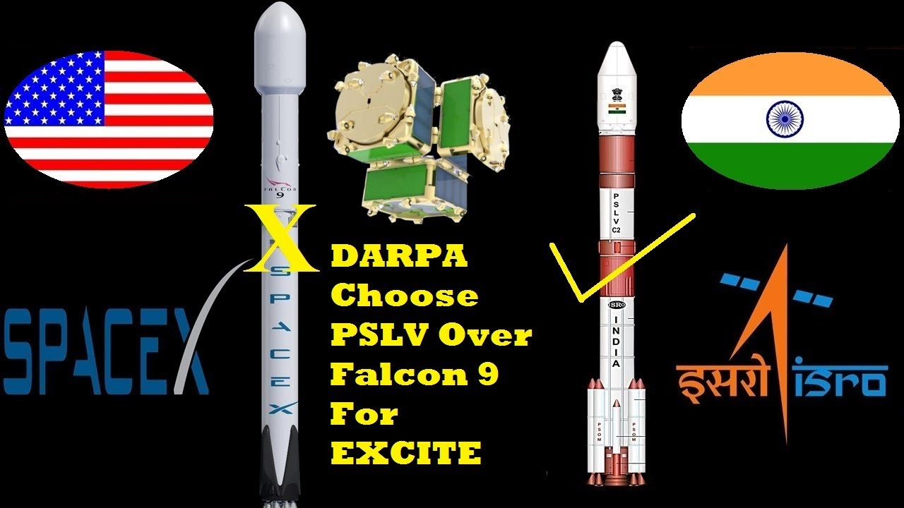 darpa trying to launch smallsat experiment on an indian rocket pslv falcon 9 isro spacex