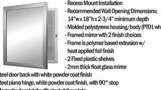 Nutone 781005 Hudson Framed And Recessed Mount Medicine Cabinet