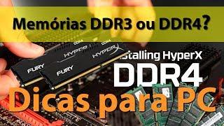 Dicas para PC: Memórias DDR3 ou DDR4?