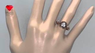 Bije.ru: Позолоченное кольцо с фианитами Danu (Дана)(, 2015-02-16T12:00:33.000Z)