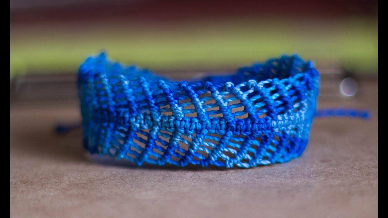 Como hacer pulseras gruesas de hilo