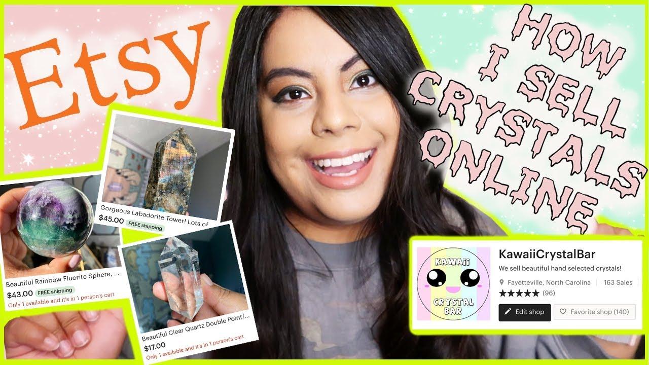 How I Sell Crystals Online | ETSY SHOP | Etsy Tips & Tricks | Kawaii Crystal Bar |