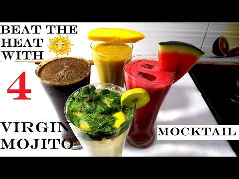 non-alcoholic-beverage-(beverage)- -summer-drinks-non-alcoholic- -how-to-make-mocktail- -4-mocktails
