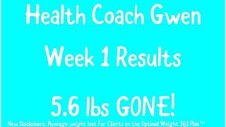 Disclaimers - average weight loss for clients on the optimal 5&1 plan™ with support is 20 pounds / weig...