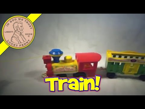 Vintage Fisher-Price Circus Train Toy # 991 Kids Toy Reviews