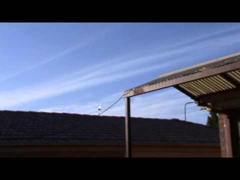 Chembow, trails, fake planes and the Sun Canberra Australia 2 December 2012 Part 1