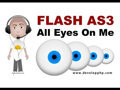 Flash tutorial make multiple turrets or eyes rotate towards mouse or objects