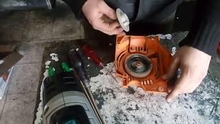 benzinli odun kesme motorunun yaylarının değiştirilmesi