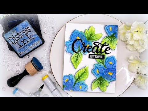 Creating a Your Own Stencil with Die Cuts