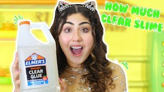 HOW MUCH CLEAR SLIME IN A GALLON OF ELMER