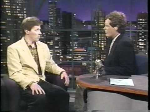 David Letterman with Tom Wilson BTTF  1991!