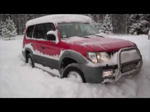toyota land cruiser 90 in snow youtube. Black Bedroom Furniture Sets. Home Design Ideas