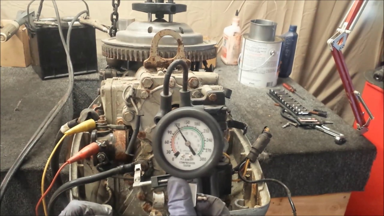 1979 Evinrude 55 HP Inspection + Weight
