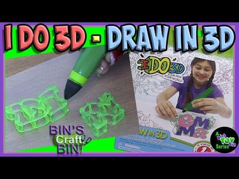 I Do 3D - Draw in 3D Marker Pen!!! Can You Draw in 3D?? By Bins Crafty Bin!