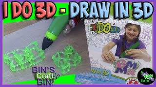 I Do 3D - Draw in 3D Marker Pen!!! Can You Draw in 3D?? By Bins Crafty Bin!