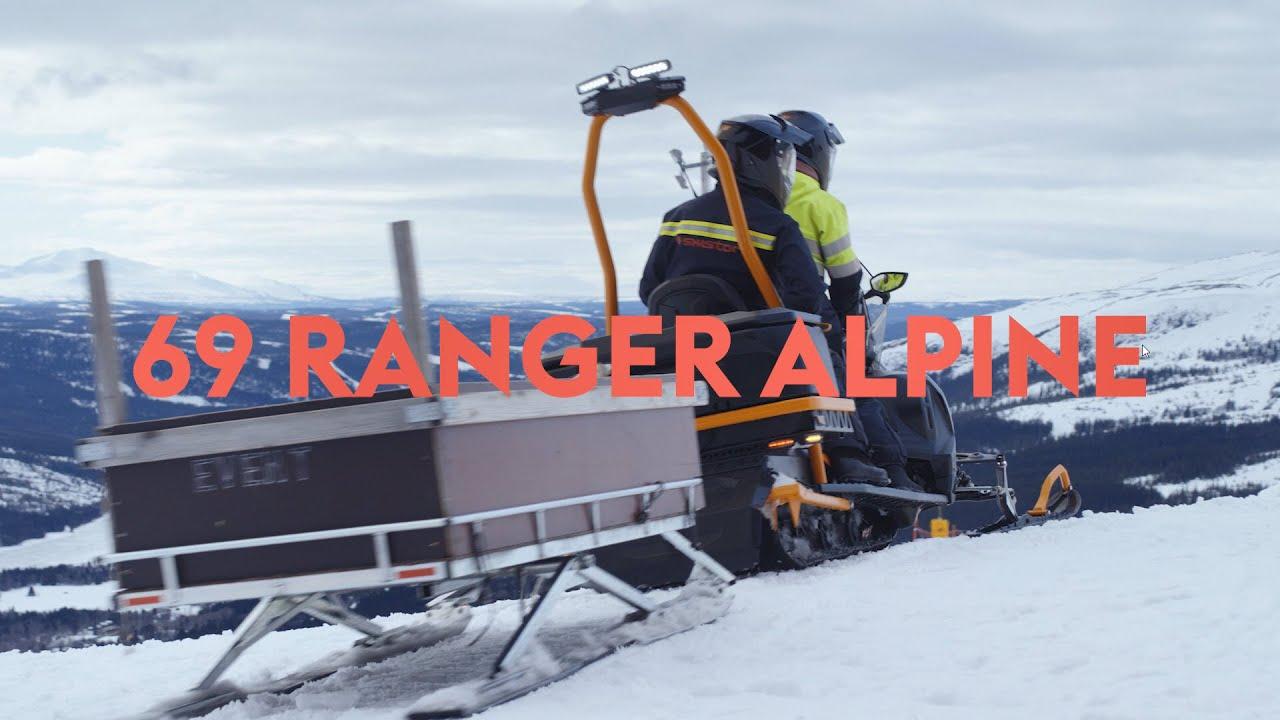 Ski Lift Maintenance with Lynx 69 Ranger Alpine Snowmobile
